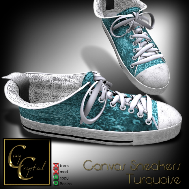 Canvas Sneakers No1 Turquoise